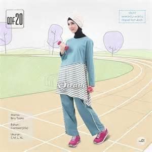 Beli Baju Sport Wanita Olahraga Qirani Fresh QDF-20 Biru Toska dari Aprilia Wati agenbajumuslim - Sidoarjo hanya di Bukalapak