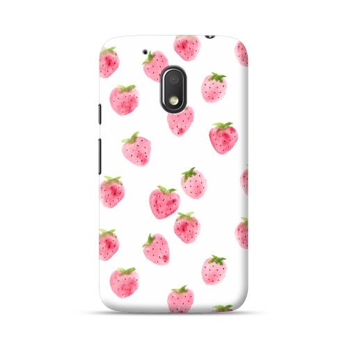 Moto G4 Play Strawberry Watercolor Pattern Case