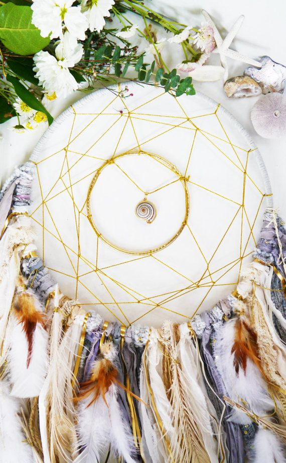 Grey + Natural Dreamcatcher, bohemian, boho-mod home decor