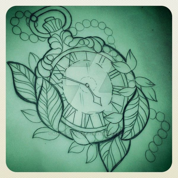 Pocket watch tattoo sketch  284 besten tattoo+patronen watch Bilder auf Pinterest | Tattoo ...