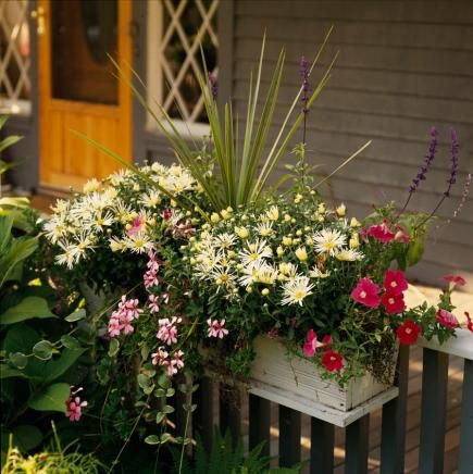 30 bright and beautiful window box planters midwest living - Window Box Planters
