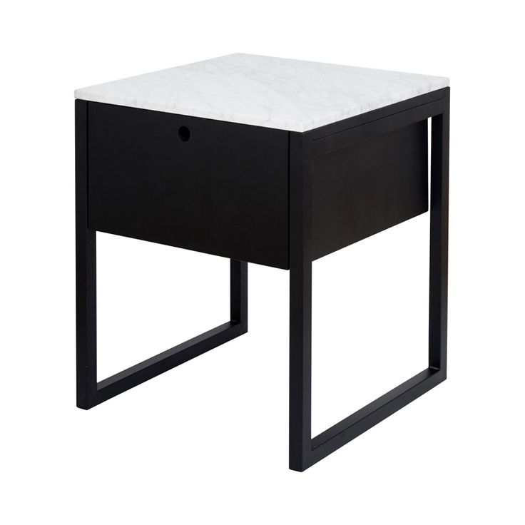 Best Modern Marble Bedside Table And Nightstand Black Ash Wood 640 x 480