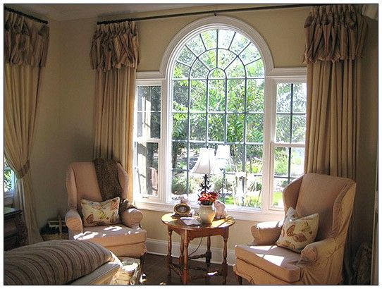 26 best images about window treatments on pinterest for Window treatment for oval window