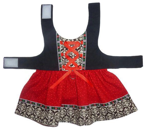 ON SALE Swiss Miss Dog Dress Pattern 1723 Small by SofiandFriends