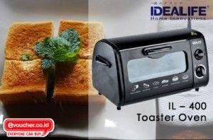 Buat Roti Panggangmu Sendiri Dengan IL-400 Toaster Oven IDEALIFE Hanya Rp.239,000  - www.evoucher.co.id #Promo #Diskon #Jual  Klik > http://evoucher.co.id/deal/idealife-toaster-oven-oktober-2013  Panggang Roti lebih asik dengan IL-400 Toaster Oven. Mudah digunakan dan dibersihkan. Kamu bisa memanggang roti yang kamu mau setiap hari & lebih Mudah dengan IL-400 Toaster Oven   Pengiriman akan dilakukan mulai 14 November 2013