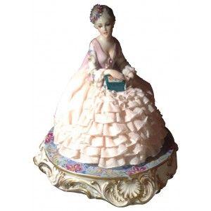 Dama con cofanetto gioielli (antiche porcellane d'arte FABRIS)