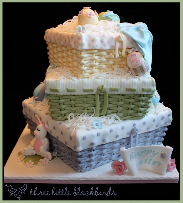 easter basket - beautiful basket cake