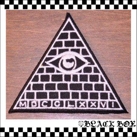 ワッペン フリーメイソン 秘密結社 万物の目 イルミナティ ピラミッド Illuminati 155_画像1