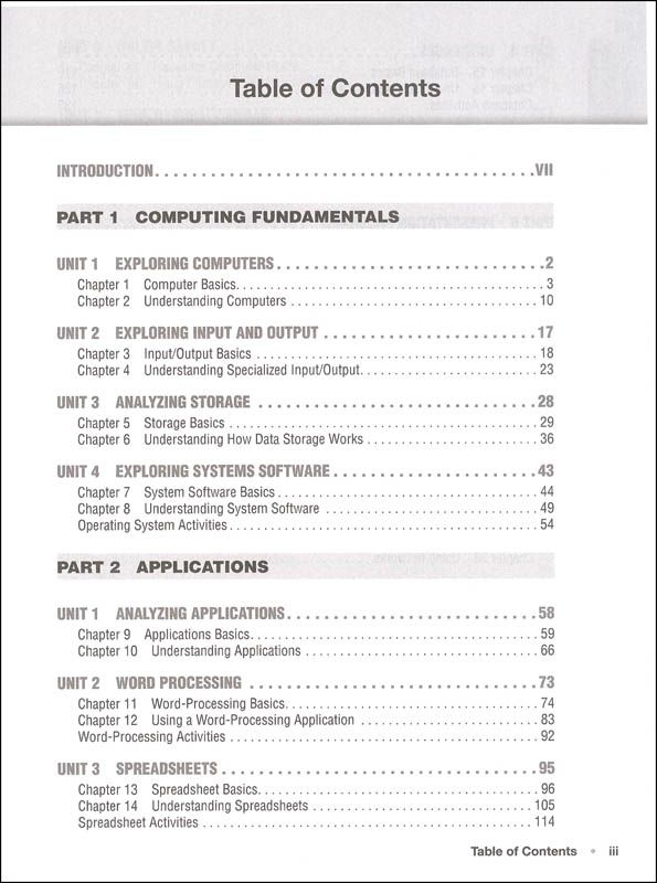 Introduction To Computers And Information Technology Teacher S Manual 2nd Ed Additional Photo Inside Page