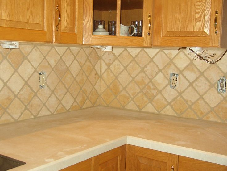 Tile Splashback Ideas Pictures Tumbled Marble For The