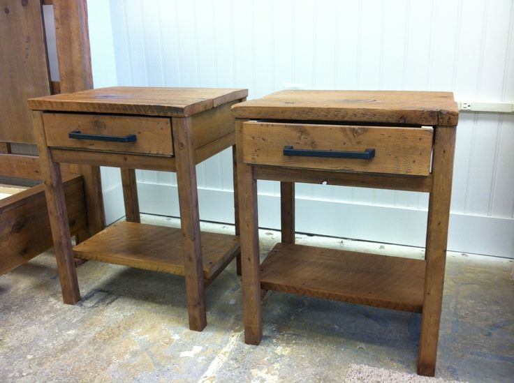 Reclaimed Wood End Tables | Small tables | Pinterest ...