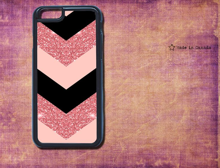 pink glitter, soft pink and black, cute phone case, Iphone 6 Plus, Iphone 6, Phone case, monogram iPhone case, samsung s5- gift for her by SaidTheOwl on Etsy