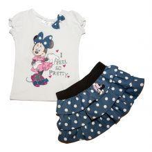 set 2 Bluza MS-fusta Minnie - alb