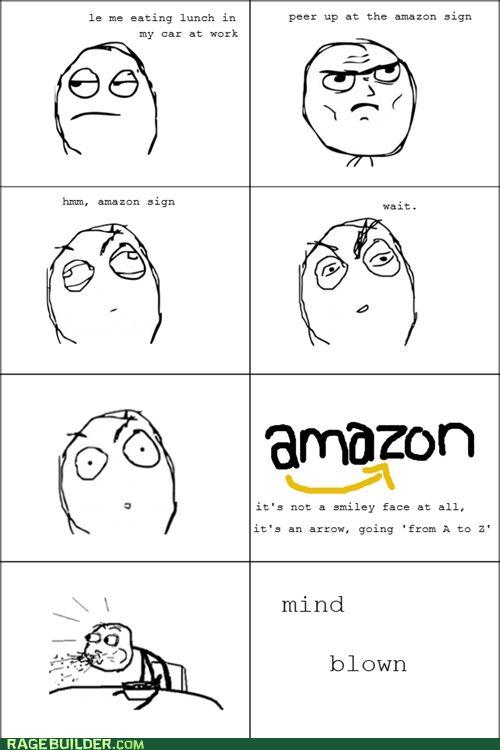 Mind Blown Meme | amazon logo mind blown - Cheezburger