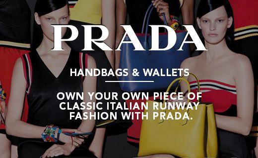 Prada Bags & Wallets Web Banner