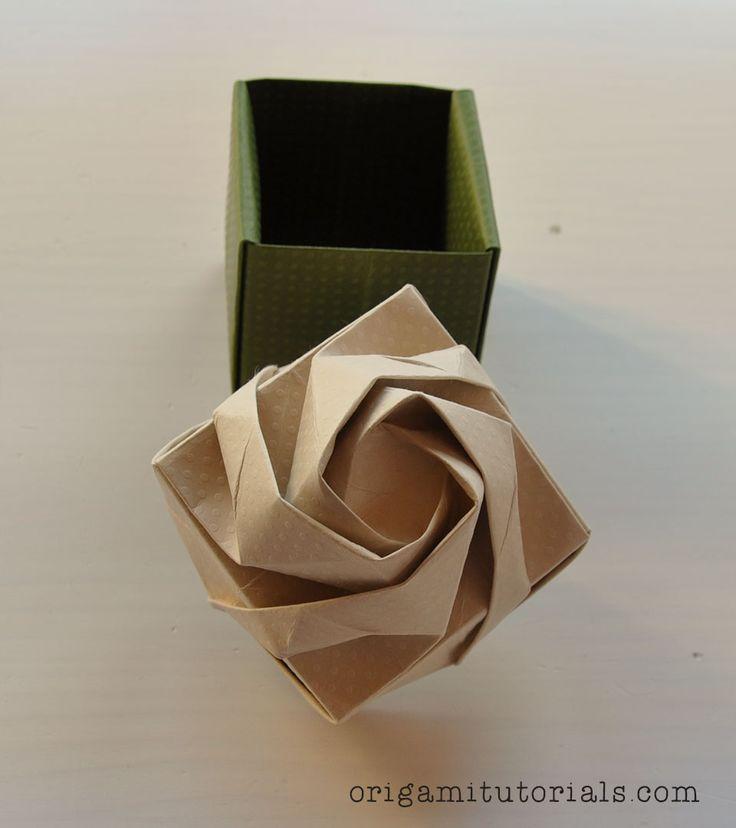 Origami Rose Box   Origami Tutorials                                                                                                                                                     More