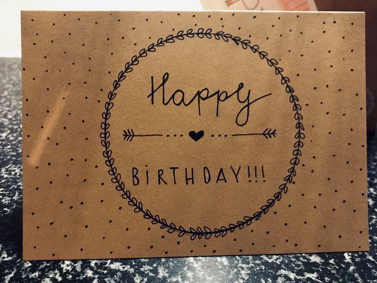 Karte Happy Birthday – #Birthday #gestalten #Happy #Karte