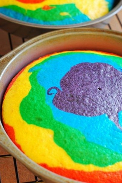 Rainbow Cake!! I made this!