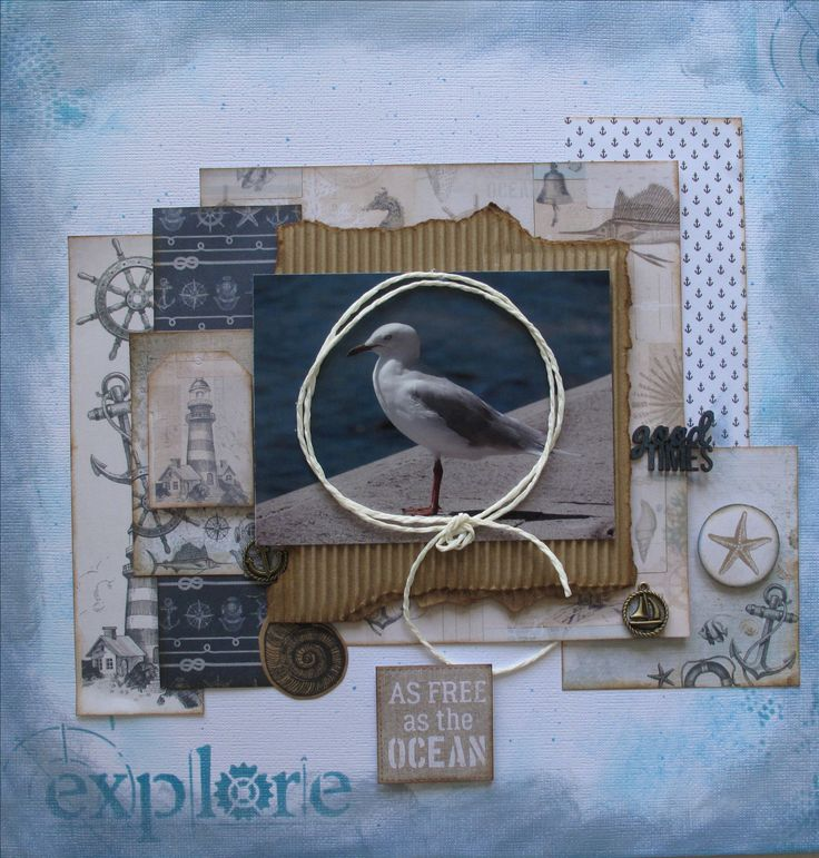 layout by Annette using Kaisercraft high tide