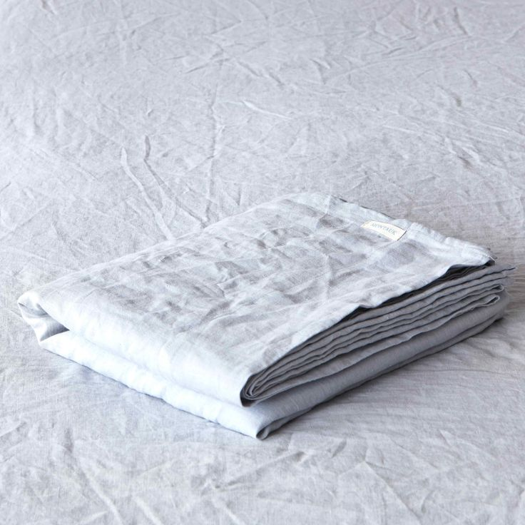Glacier Pure Linen Flat Sheet by Montauk Style