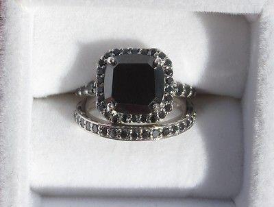 25 best ideas about black diamond wedding rings on pinterest black engagement rings black wedding rings and black band engagement rings - Black Diamond Wedding Ring