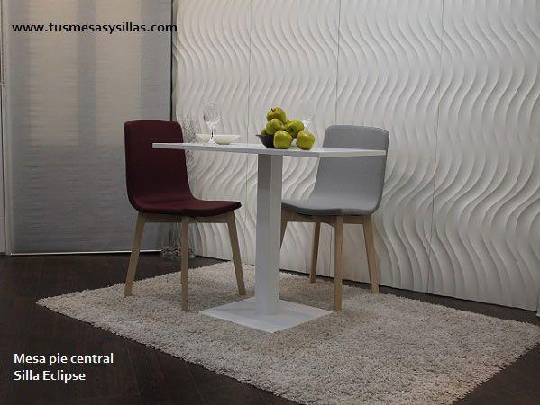Mesa con pata central, si son practicas y muy utilizadas en hostelería porque no pata tu cocina, el secreto de la estabilidad esta en la calidad de su pie central