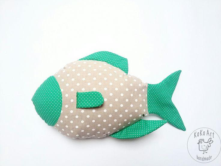 fish pillow  #fish #pillow #cushion #cotton #handmadedecor #handmadefisz #handmadetoys #kokoart