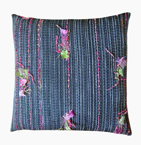 unique pillow case cover with Textured weave by halletextiledesign