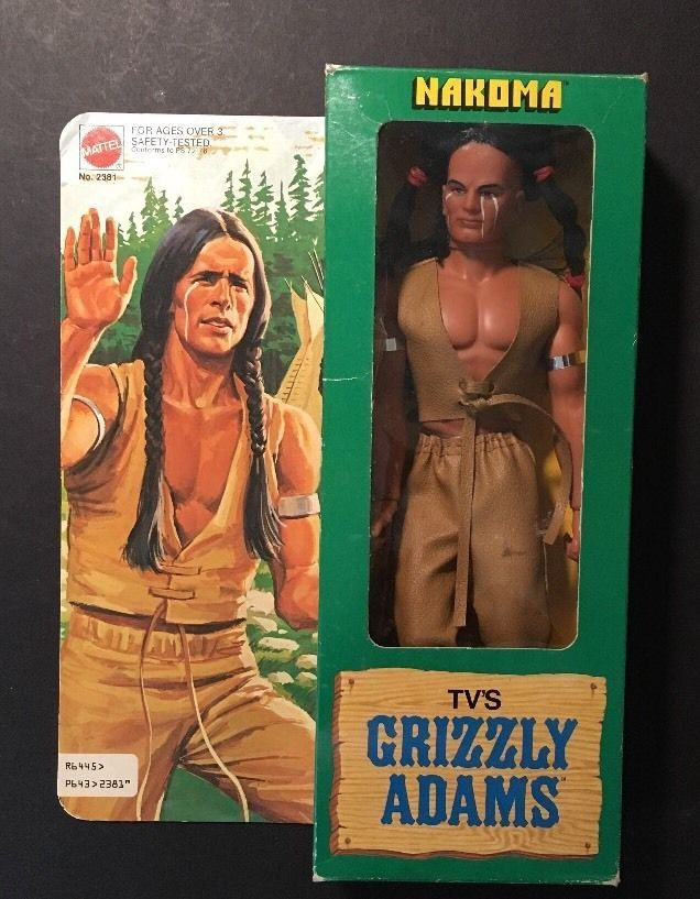 Vintage 1978 TV'S Grizzly Adams Nakoma Figure MIB #Mattel