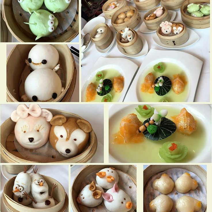 "Here's the latest Disney Dim Sum from Hong Kong Disneyland. Notice Baymax and Olaf in particular. ""The+Disney+Dim+Sum+of+Hong+Kong+Disneyland from OhMyDisney."""