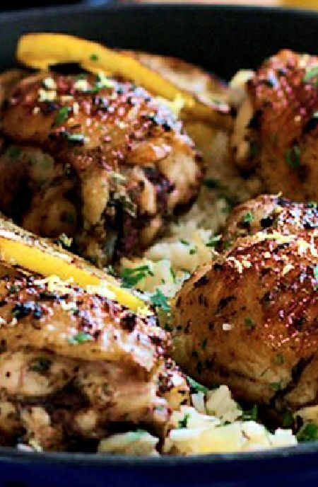 Lemon-spiced chicken with quinoa -- Low FODMAP Recipe and Gluten Free Recipe #lowfodmaprecipe #glutenfreerecipe #lowfodmap #glutenfree http://www.ibs-health.com/low_fodmap_lemon_spiced_chicken_quinoa.html