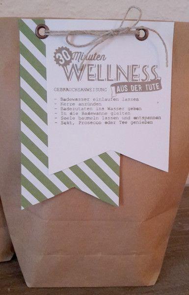 Geburtstagsgeschenk basteln wellness