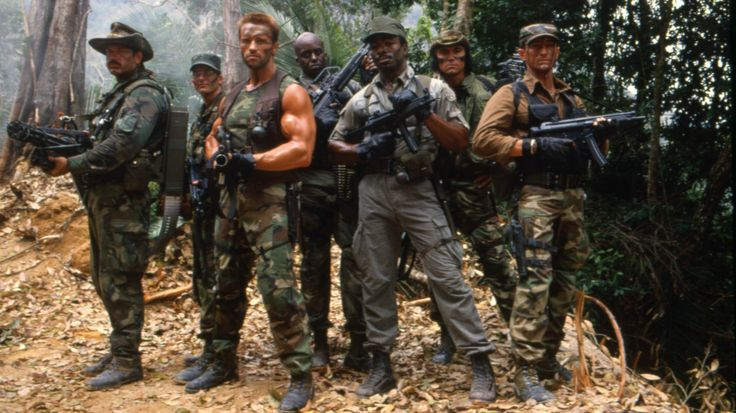 Three of the seven cast members shown here on the set of the 1987 film Predator would later run for governor in their home states. Two of th...