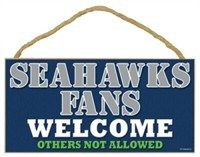 Seattle Seahawks Small Wood Welcome Sign - $9.99