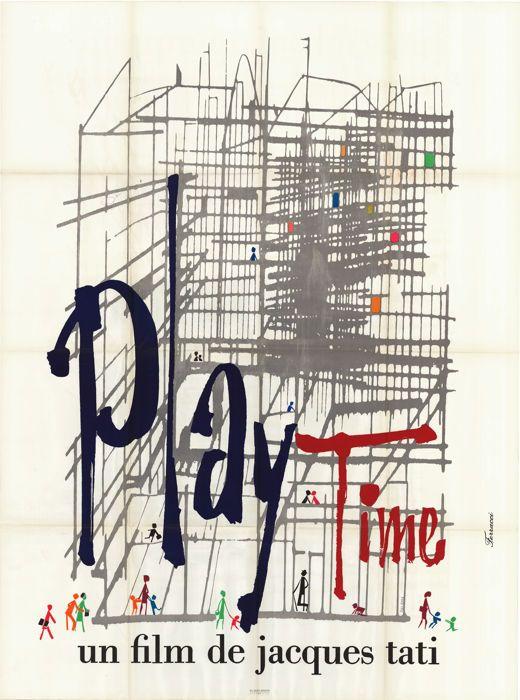 [Jacques Tati] - Playtime - 1967  Affiche originale française pliée / origineel Franse poster gevouwenGrootte: 120x160cm / Size: 47 x 63 inchIllustrateur / kunst door: FerracciTrès bon état / zeer goede staat  EUR 1.00  Meer informatie