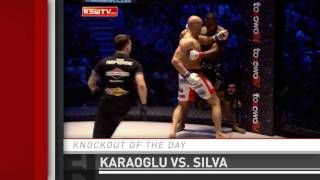 awesome Knockout of the Day: Aziz Karaoglu Wobbles Jay Silva at KSW 31