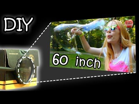 DIY Smartphone Projector - How To Make Your Phone Image 15 Times Bigger (Tutorial) - YouTube
