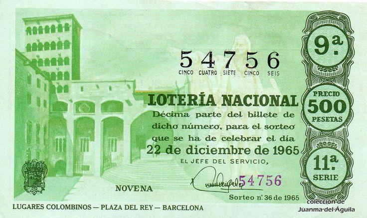 decimo loteria navidad 1965 - Buscar con Google