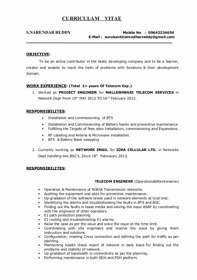 Network Engineer Resume Example Luxury Surukanti Narendar Reddy Network Engineer Resume Resume Examples Job Resume Examples Resume Skills