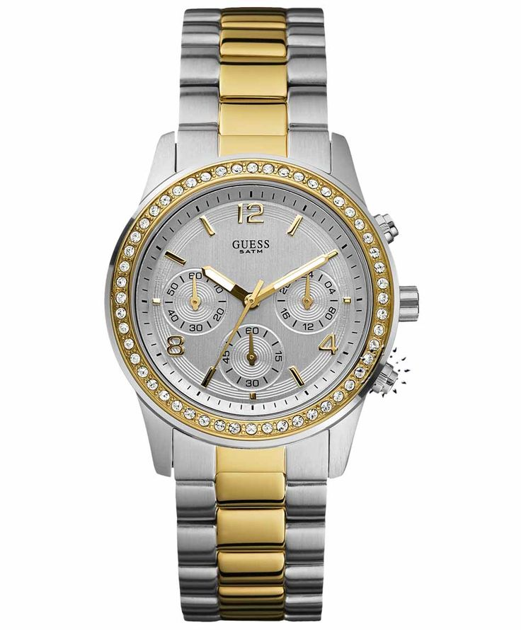 GUESS Crystal Two Tone Stainless Steel Bracelet Η τιμή μας: 191€ http://www.oroloi.gr/product_info.php?products_id=31732