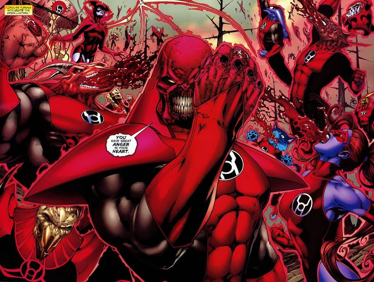 The Red Lantern Corps. Yes, there is a housecat that is part of the Corps.