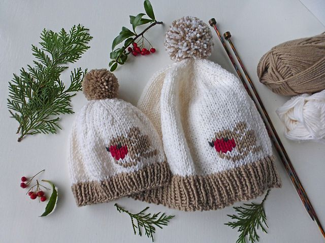 Ravelry: Winter Robin Hat pattern by Sylvia Leake