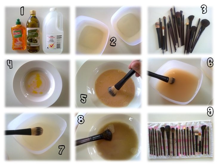 at home makeup brush cleaner. clean makeup brushes: antibacterial dish washing liquid (or) hand-wash, olive at home brush cleaner o