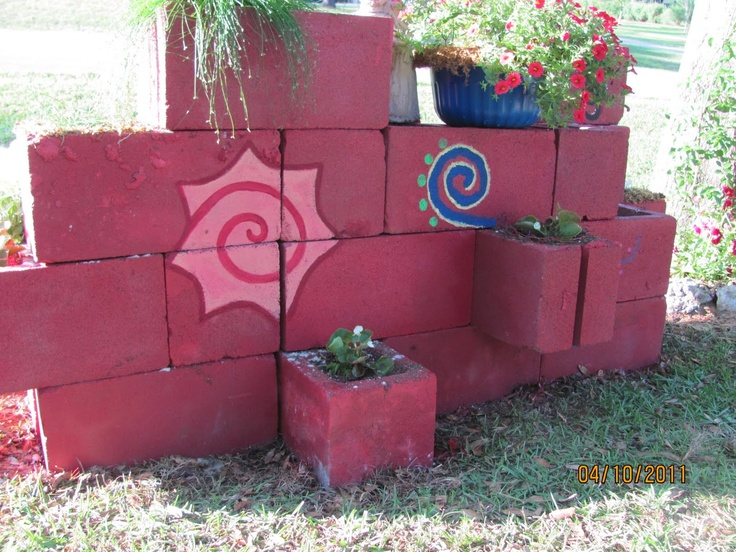 17 Best Images About Cinder Block On Pinterest Patio Planters And Cinder Block Walls