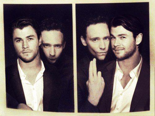 TOO cute. Tom and Chris <3