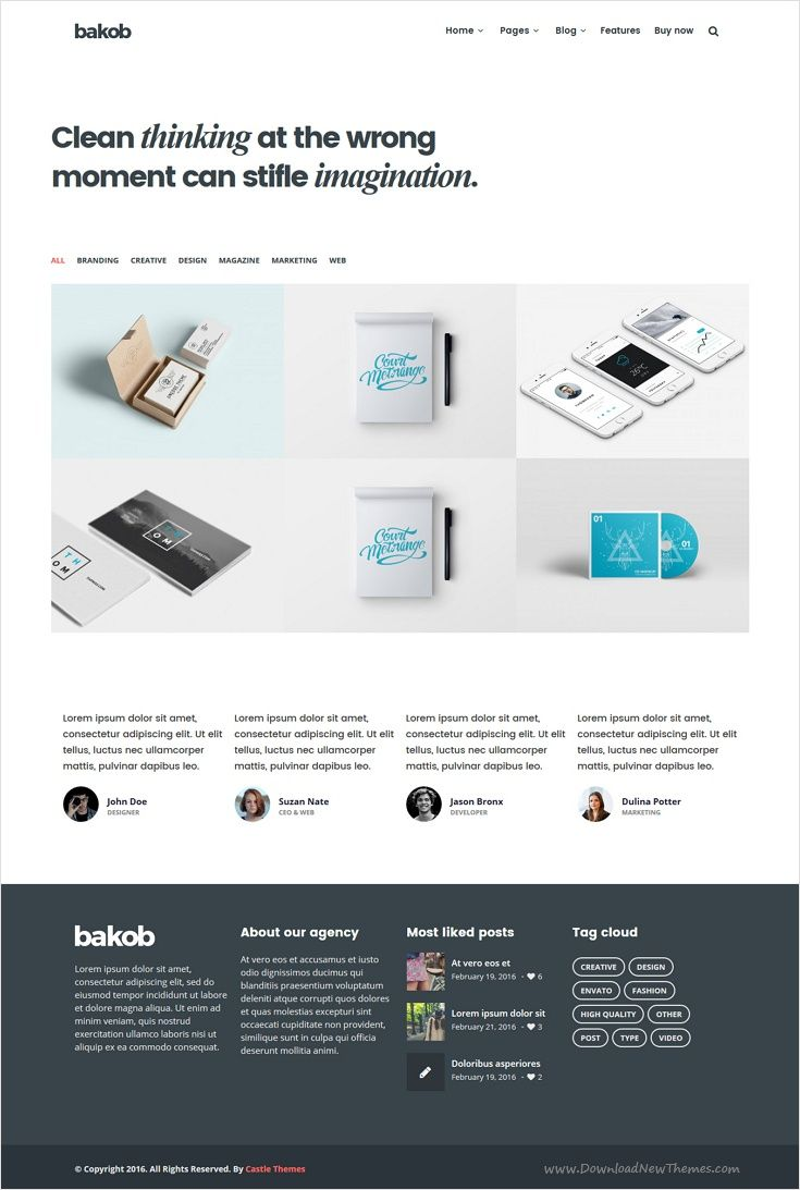 Bakob is a stunning #WordPress #theme packed with the best #portfolio website building features with 22+ different homepage layouts download now➩ https://themeforest.net/item/bakob-creative-multipurpose-wordpress-theme/16821455?ref=Datasata