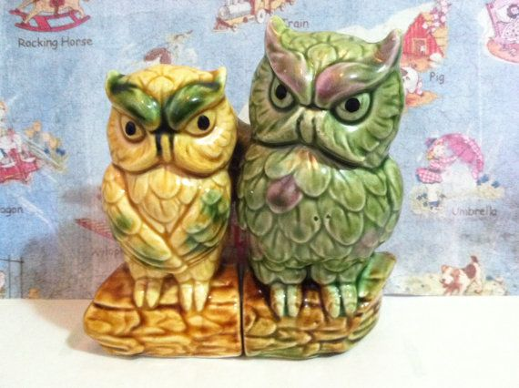 Fantastical Bird Salt And Pepper Shakers. VERY RARE Vintage 1950 s Owl Couple in Love Salt and Pepper Shakers Antique  Collectibles or Cake Toppers 22 best Collectible Birds images on Pinterest