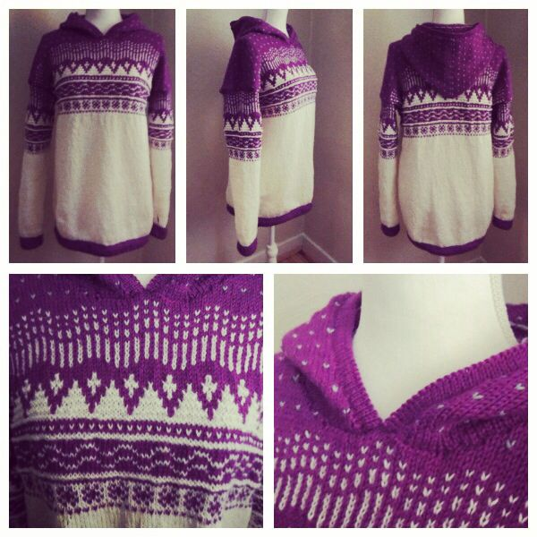 "Norges genseren. Knitted ""Norwegian"" sweater."