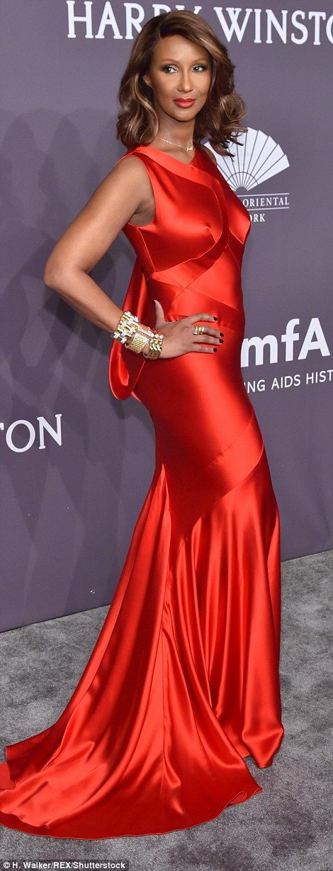 She's ageless! 61-year-old Iman, who lost her husband David Bowie last year, looked a frac...
