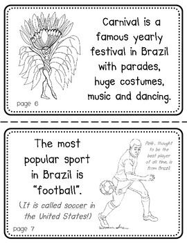 BRAZIL BOOKLET (A COUNTRY STUDY!) - TeachersPayTeachers.com